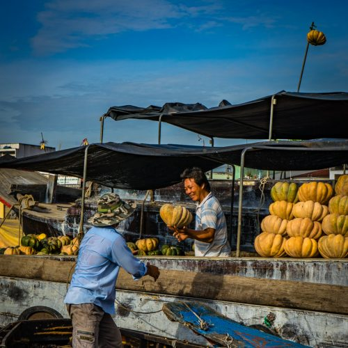 Mekong Delta Floating Market-487