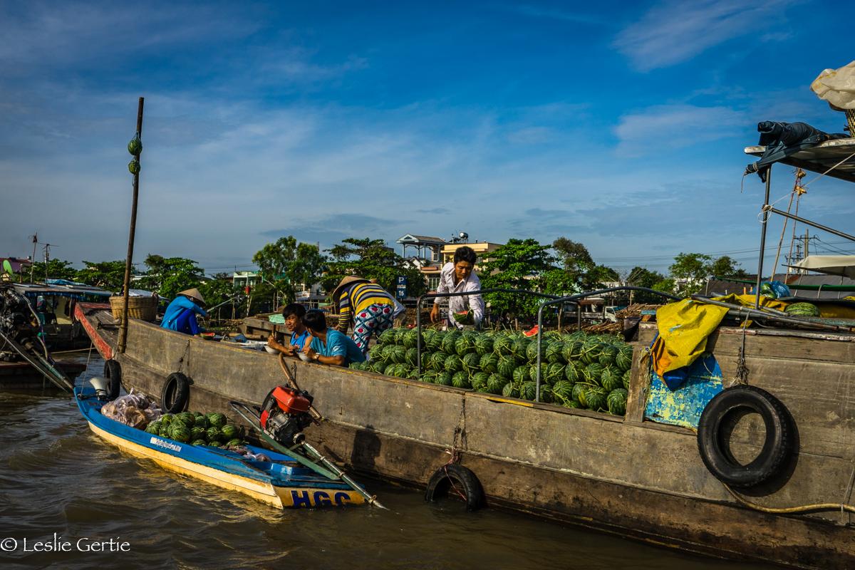 Mekong Delta Floating Market-507
