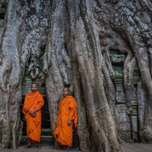 Monks @ Ta Prohm-9404